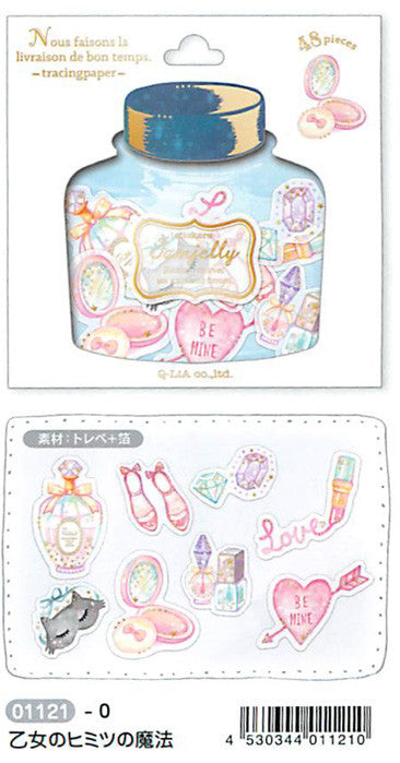 Girly Flake Stickers, Jam Jelly