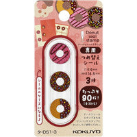Donuts Seal Stamp Refill Stickers, Kokuyo