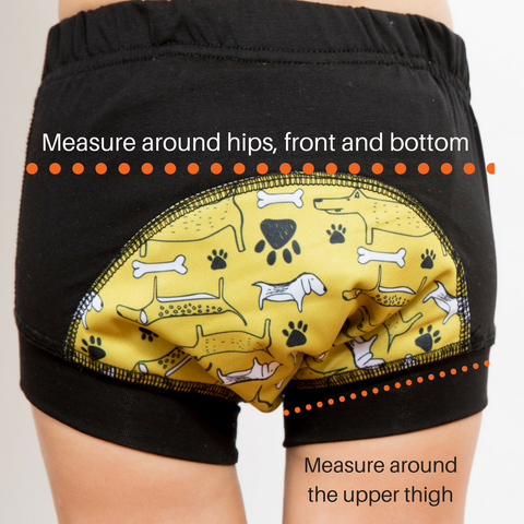 How to measure your child's Wee Pants and get the right fit