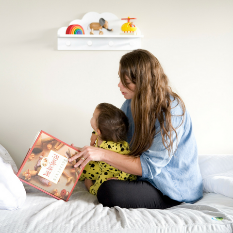 Parent reading story