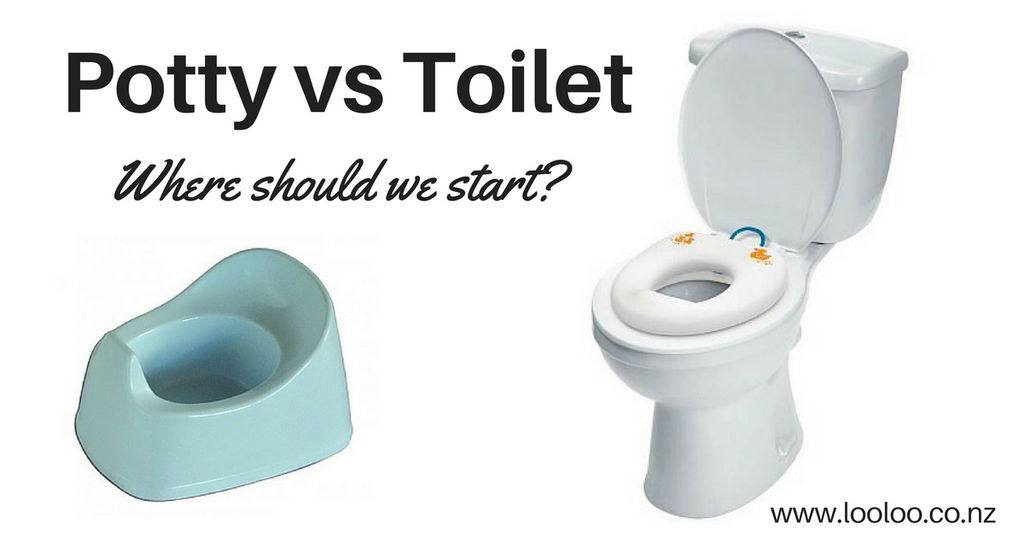Toilet training potty vs toilet