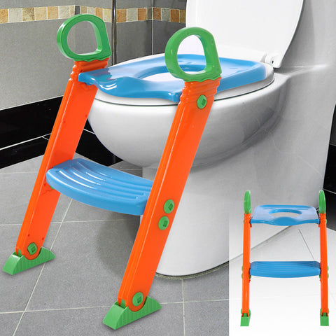 Toilet seat and ladder attachment