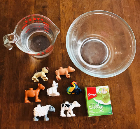 Ingredients for animal play activity