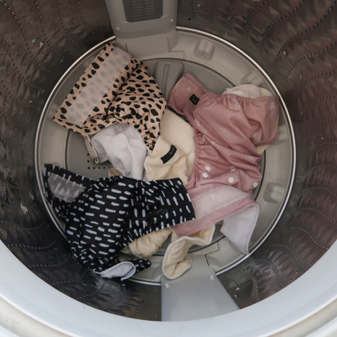 nappies in the washing machine