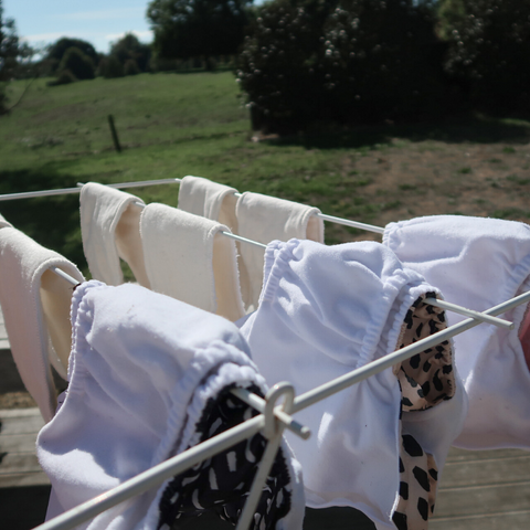 nappies drying on the line