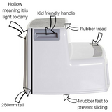 Dimensions for toilet step stool