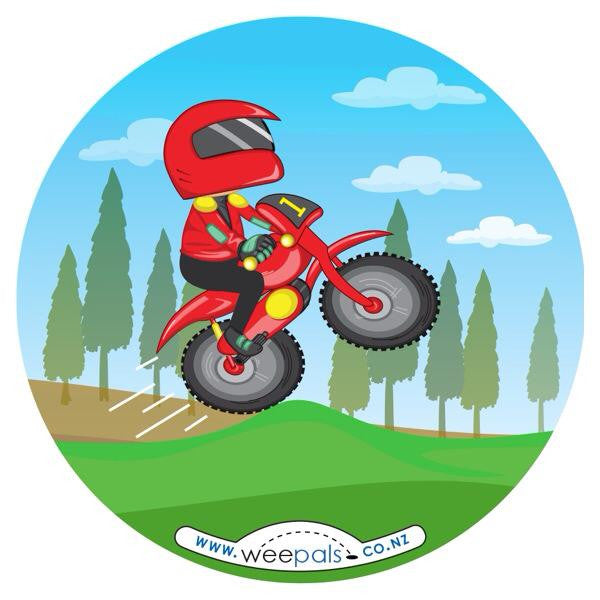 Motor bike Weepals sticker