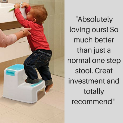 Step stool for toilet training parent testimonial