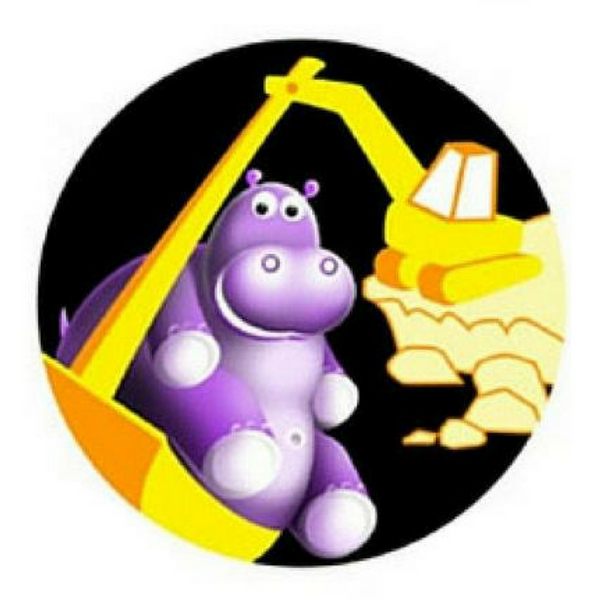 Digger toilet training sticker