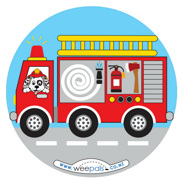 Fire truck toilet training sticker