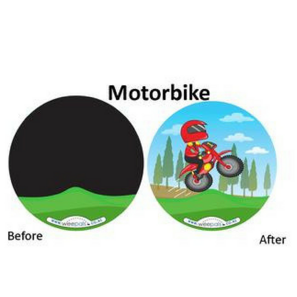 Before and after motorbike sticker