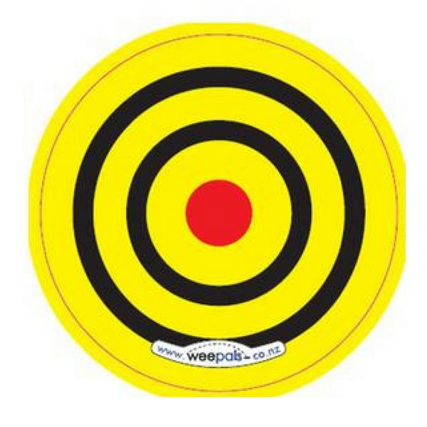 Toilet Aiming Sticker: Target