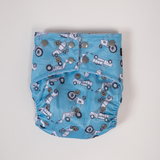 ON SALE Sassy Pants Nappy with Snaps: Retro Vehicles