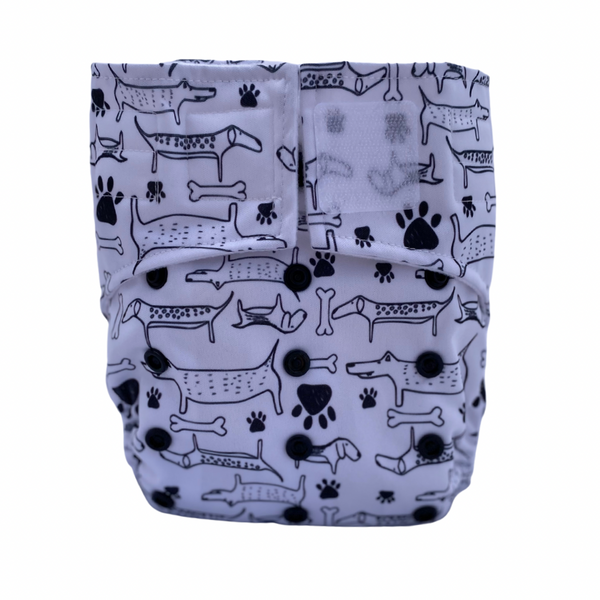Cloth Nappy Sassy Pants with Velcro: Hound Dog