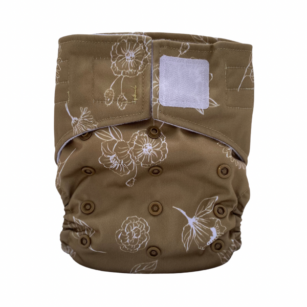 Sassy Pants Nappy with Velcro: Golden Bloom