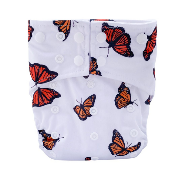 Sassy Pants Nappy with Snaps: Monarch