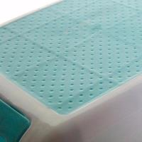 Plastic 2 step stool, rubber tread
