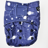PRESALE Sassy Pants Nappy with Velcro: Space