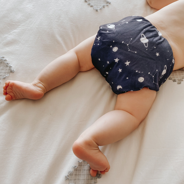 ON SALE Sassy Pants Nappy with Snaps: Space
