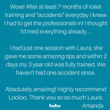 Parent review of toilet training coaching session nz