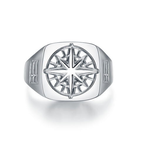 Compass Signature - Silver ring