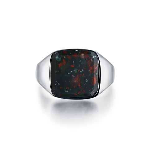 NEW: Bloodstone Signature - Silver ring