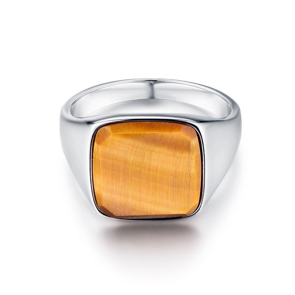 Tigereye Signature - Silver ring