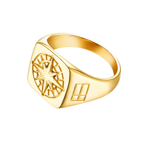 Compass Signature - Gold ring