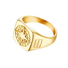NEW: Compass Signature - Gold ring