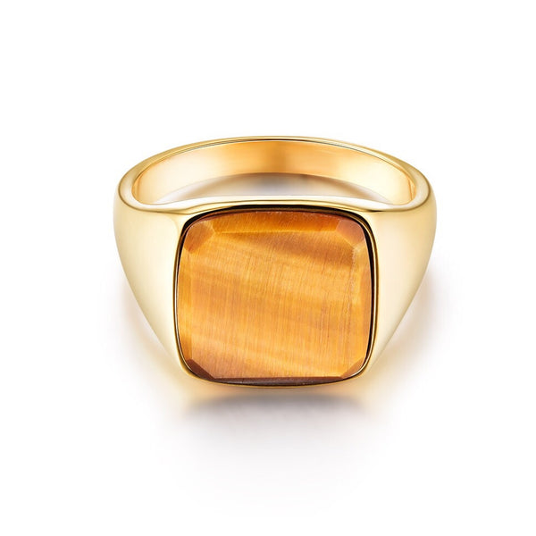 Tigereye Signature - Gold ring