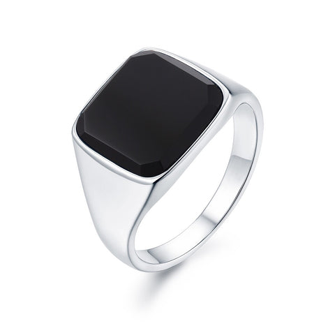 Black Onyx Signature - Silver ring