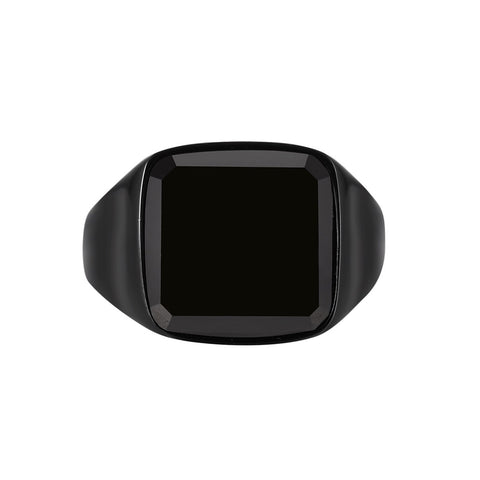 Black Onyx Signature - Black ring