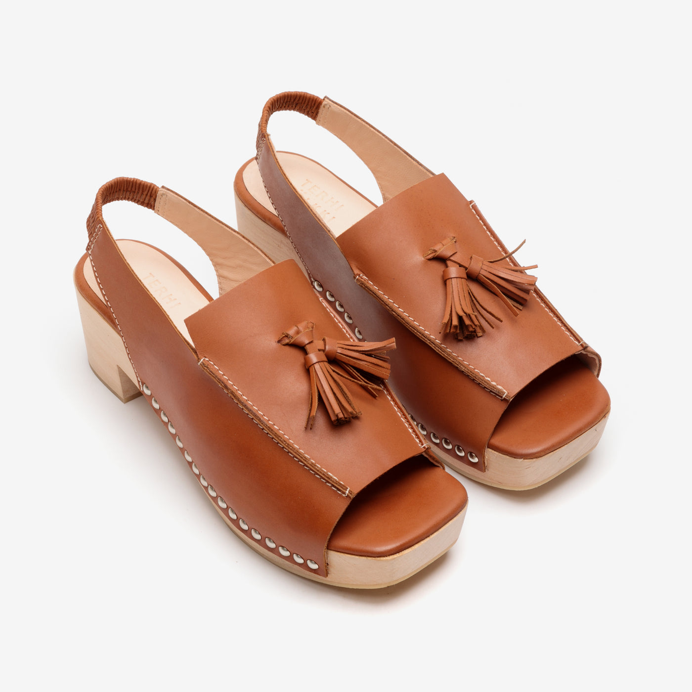 LOAFER CLOG COGNAC