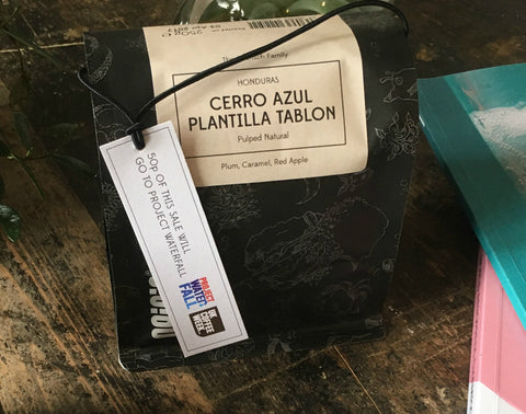 Origin 250g bag with UK Coffee Week tag