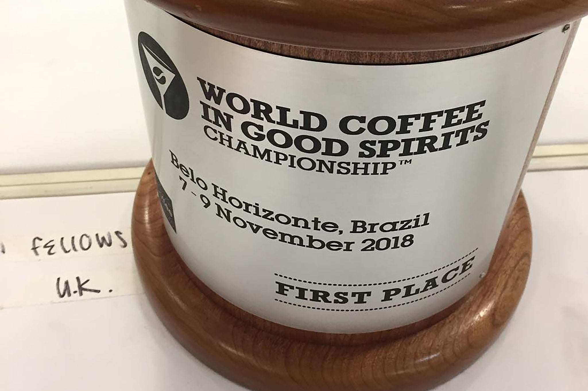 Dan Fellows World Coffee In Good Spirits Origin Coffee 2018