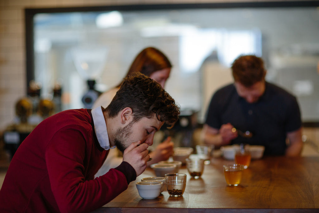 Coffee Cupping with The Visit Coffee Roastery </div>
