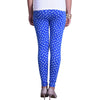 Buy blue and white printed leggings back view
