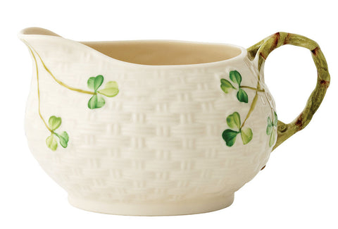 Belleek: Shamrock Cream Jug - Hibernian Gifts