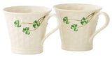 Belleek: Basketweave Mugs (set of 2)