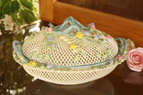 Belleek: Oval Covered Basket - Hibernian Gifts - 2