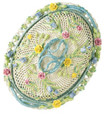Belleek: Oval Covered Basket - Hibernian Gifts - 1
