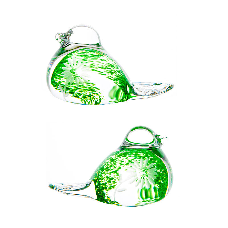 The Irish Handmade Glass Company: Summer Days Pair of Love Birds - Hibernian Gifts
