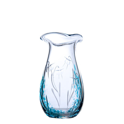 The Irish Handmade Glass Company: Celtic Meadow Medium Vase - Hibernian Gifts