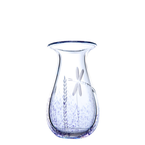 The Irish Handmade Glass Company: Wild Heather Medium Vase - Hibernian Gifts