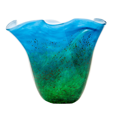 The Irish Handmade Glass Company: Horizon Centrepiece Vase - Hibernian Gifts