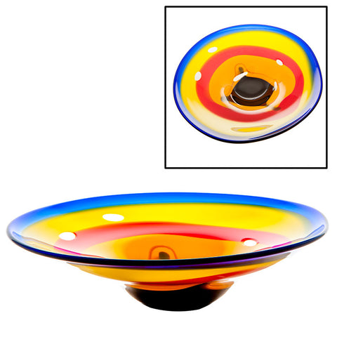 The Irish Handmade Glass Company: Coolfin Centrepiece Bowl - Hibernian Gifts