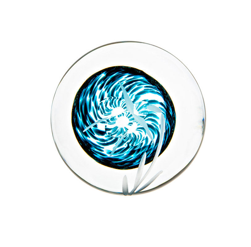 The Irish Handmade Glass Company: Celtic Meadow Handcooler / Paperweight - Hibernian Gifts