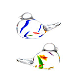 The Irish Handmade Glass Company: Wildflower Pair of Love Birds - Hibernian Gifts