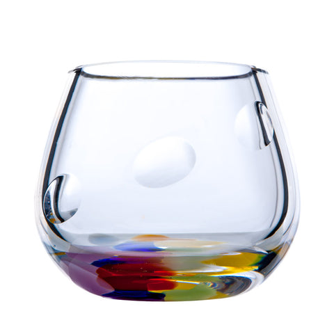 The Irish Handmade Glass Company: Wildflower Tealight Votive - Hibernian Gifts