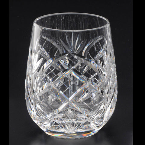 Heritage Irish Crystal: Cathedral 12oz Roly Poly Tumbler - Hibernian Gifts